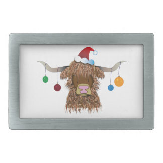 Christmas Cow Belt Buckle