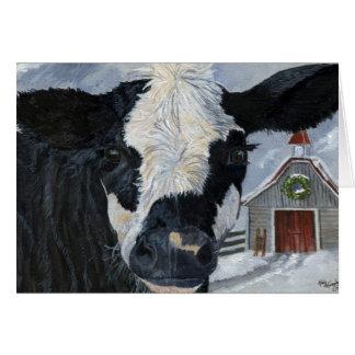 Christmas Cow Card