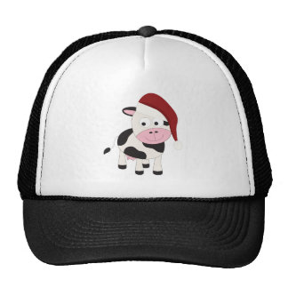 Christmas cow hat
