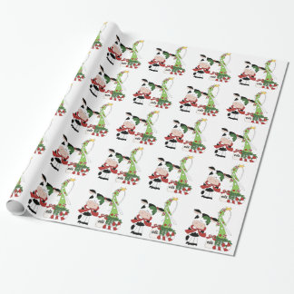 Christmas Cow Holiday wrapping paper