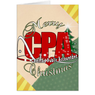 CHRISTMAS CPA Certified Public Accountant Card