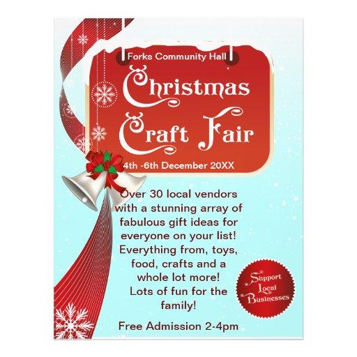 Christmas craft fair business flyer zazzle for Christmas classic art craft festival