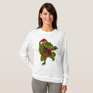 Christmas Crazy Dinosaur T-Shirt