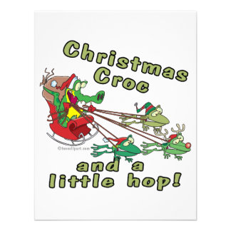 christmas croc a little hop frogs and crocodile announcements