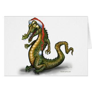 Christmas Crocodile Card