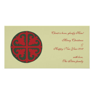Christmas Cross Customized Photo Card