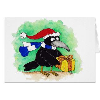 CHRISTMAS CROW greeting card by Nicole Janes