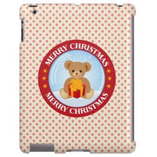 Christmas Crystal Ball Cute Bear Holding Giftbox