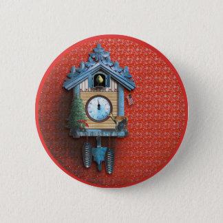 Christmas Cuckoo Clock 2¼ Inch Round Button