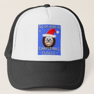christmas cuddle hedgehog trucker hat