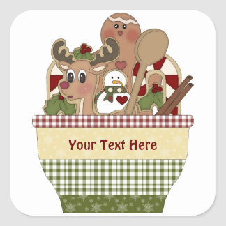 Christmas Cup (customizable) Square Sticker