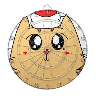 Christmas Cute Kitty Cat Dartboard