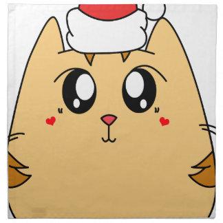 Christmas Cute Kitty Cat Napkin