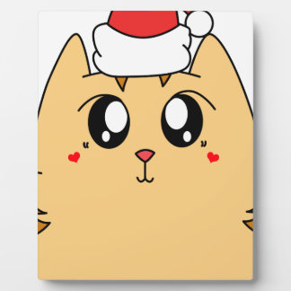 Christmas Cute Kitty Cat Plaque
