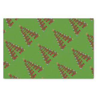 Christmas Cute Lobster tree Nautical green Tissue Paper
