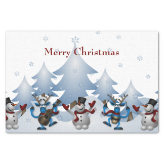 Christmas Cute Snowman and Reindeer Band Tissue Paper