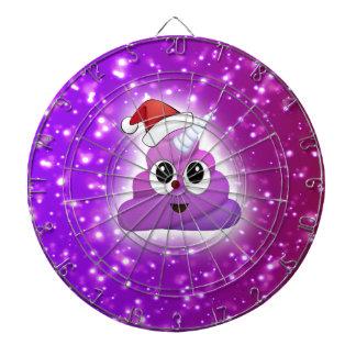 Christmas Cute Unicorn Poop Emoji Glow Dartboard