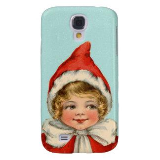 Christmas Cute Vintage Elf Girl Galaxy S4 Cases