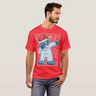 Christmas Dabbing Abominable Snowman Bigfoot T-Shirt