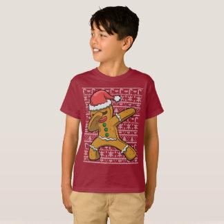 Christmas Dabbing Gingerbread Man T-Shirt