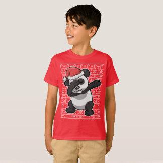 Christmas Dabbing Panda Bear Dab T-Shirt