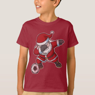 Christmas Dabbing Santa Claus Soccer T-Shirt