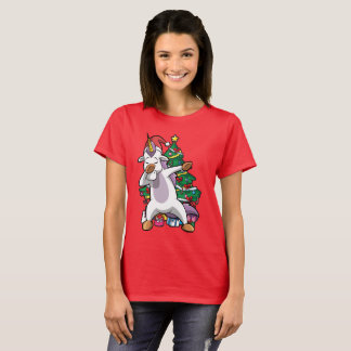 Christmas Dabbing Unicorn Dab T-Shirt