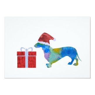 Christmas Dachshund Card