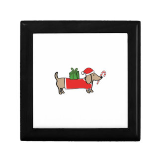 Christmas dachshund gift box