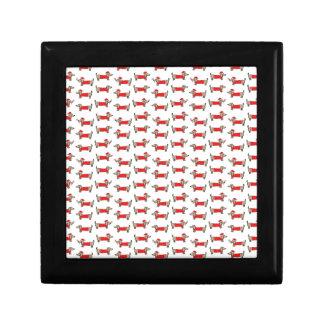 Christmas dachshund pattern gift box