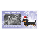 Christmas Dachshund (smooth coat) Photo Card Template