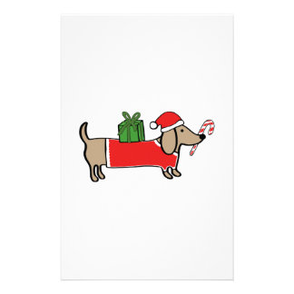 Christmas dachshund stationery