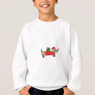 Christmas dachshund sweatshirt