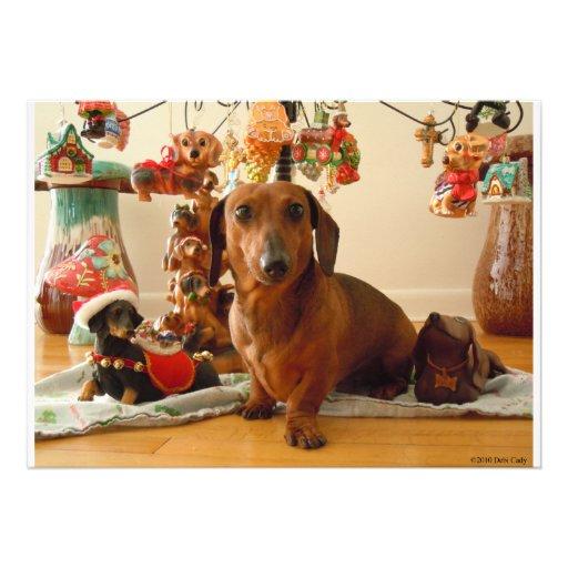 Christmas Dachshund (Version 1) Custom Announcement