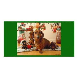 Christmas Dachshund (Version 1) Photo Card