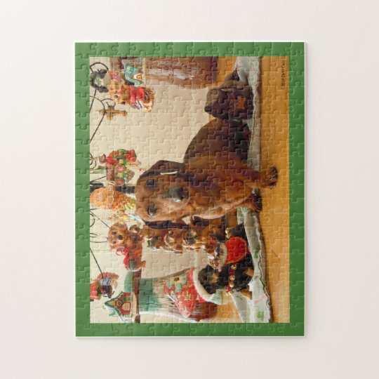Christmas Dachshund (Version 1) Puzzle
