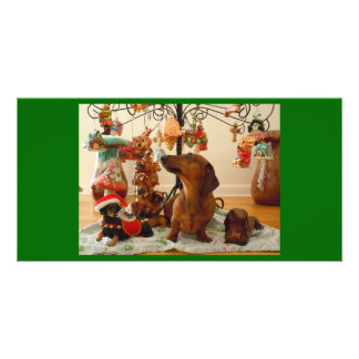 Christmas Dachshund (Version 2) Personalized Photo Card