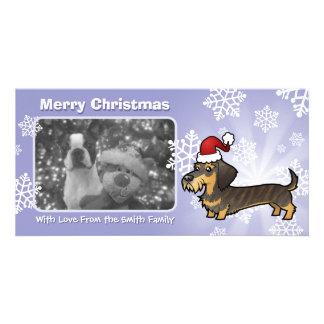 Christmas Dachshund (wirehair) Photo Card
