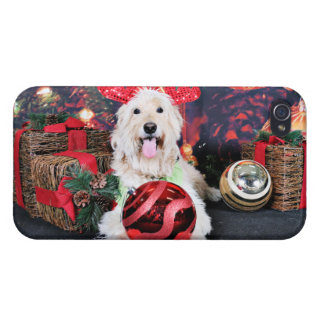 Christmas - Daisy - Goldendoodle Case For The iPhone 4