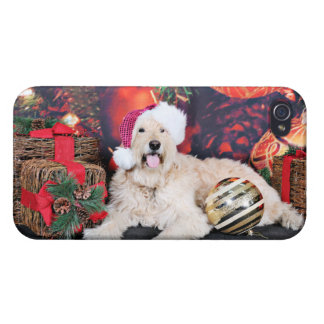 Christmas - Daisy - Goldendoodle iPhone 4/4S Cases
