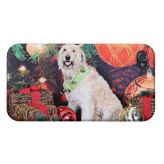 Christmas - Daisy - Goldendoodle iPhone 4/4S Covers