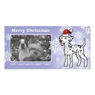 Christmas Dalmatian Customized Photo Card