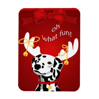 Christmas Dalmatian Dog PM Magnet