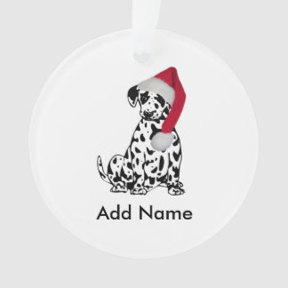 Christmas Dalmatian Personalized Ornament
