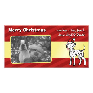 Christmas Dalmatian Picture Card