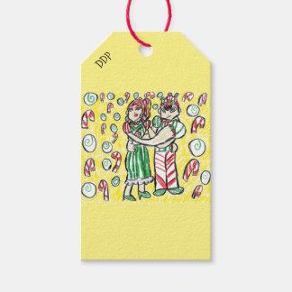 Christmas dance gift tags