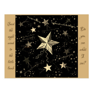 Christmas Dancing Star Postcard