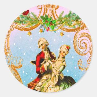 Christmas Danse de Noel Envelope Seals or Stickers