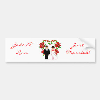 Christmas/December Just Married Bumper Sticker