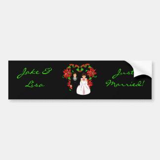 Christmas/December Just Married I Bumper Sticker